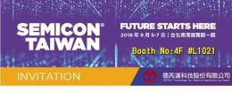 德芮達科技邀請您蒞臨SEMICON Taiwan國際半導體展,9/5 (星期三) 14:00 - 14:30 講題:無光罩方式微米銅柱列印及10µm以下之晶圓級晶片尺寸封裝重佈技術-TechXPOT創新技術發表會